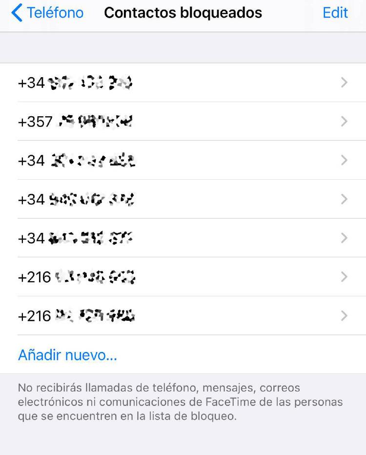 Bloquear llamadas en iPhone - 3