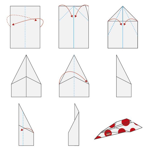 Pepephone avión de papel instrucciones