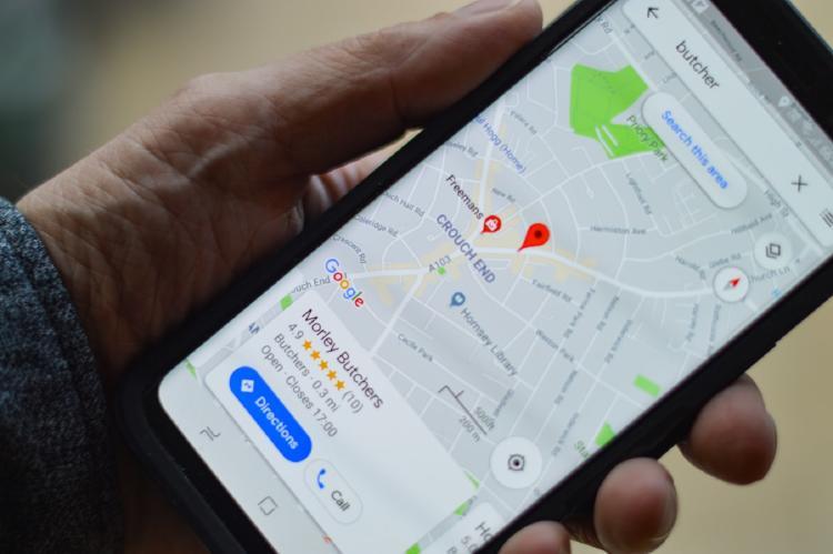 Google Maps en un smartphone.