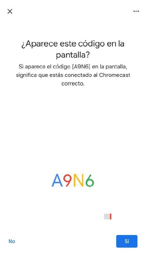 Configurar Chromecast - Pin
