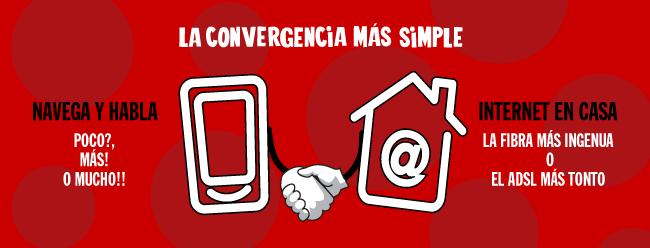 Convergencia móvil y ADSL o Fibra. Convergencia a lo Pepe: transparente, más sencilla e inteligente
