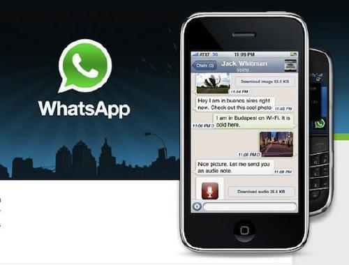 Primera versión de WhatsApp para el iPhone 3G.