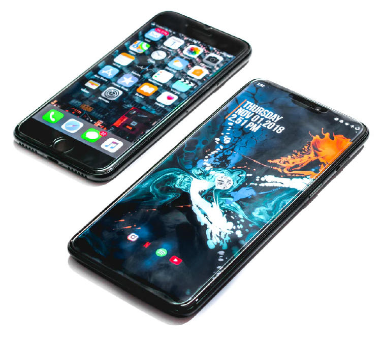 iphone-anSmartphones con iOS y Android.droid