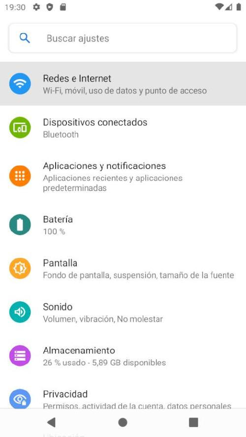 Compartir Internet desde movil Android