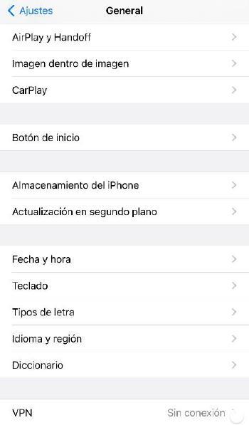 Ajustes iOS para VPN