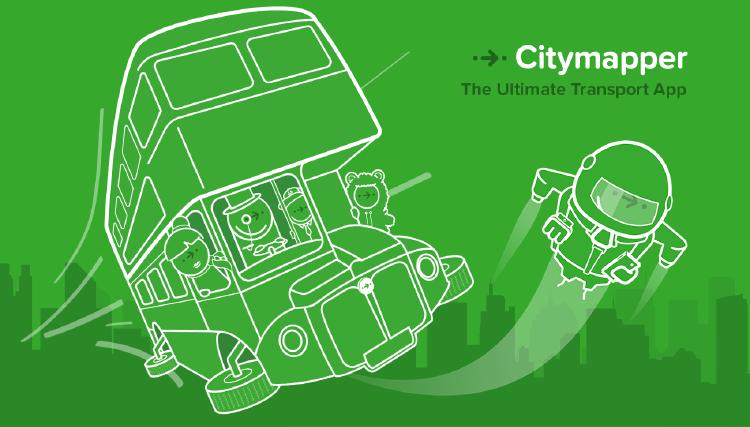 Citymapper para conocer el transporte de las ciudades.
