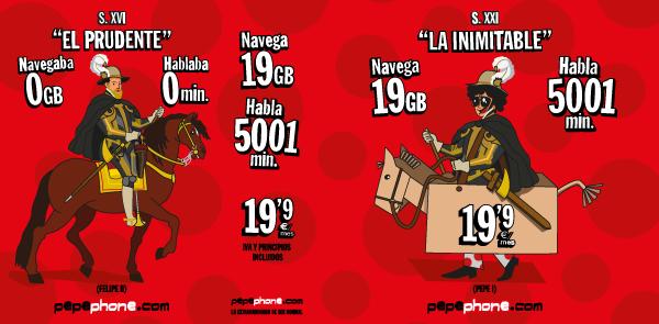 Tarifa móvil Pepephone Inimitable