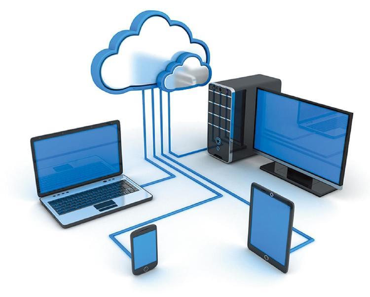 Dispositivos conectados con la nube.