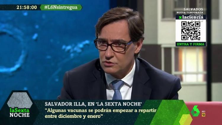 Código QR dentro de una emisión de La Sexta.