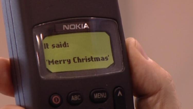 Primer SMS de la historia.
