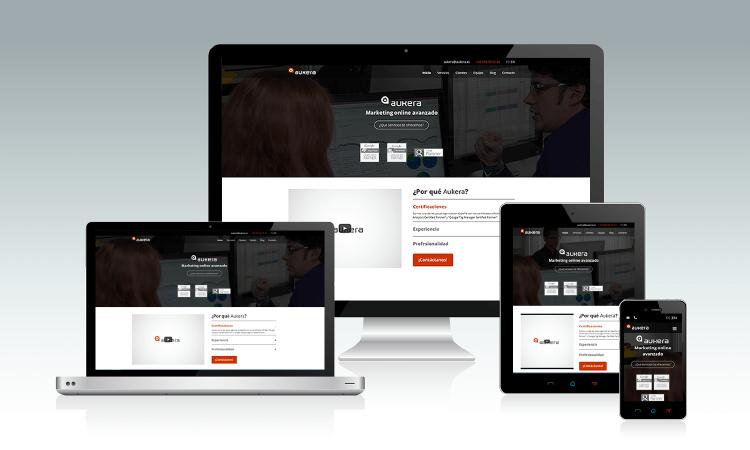 Misma página web en distintas plataformas.