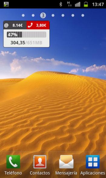 Pepephone aplicación oficial y gratuita. Acceso al área de clientes adaptado para terminales Android con widget y precios con impuestos indirectos