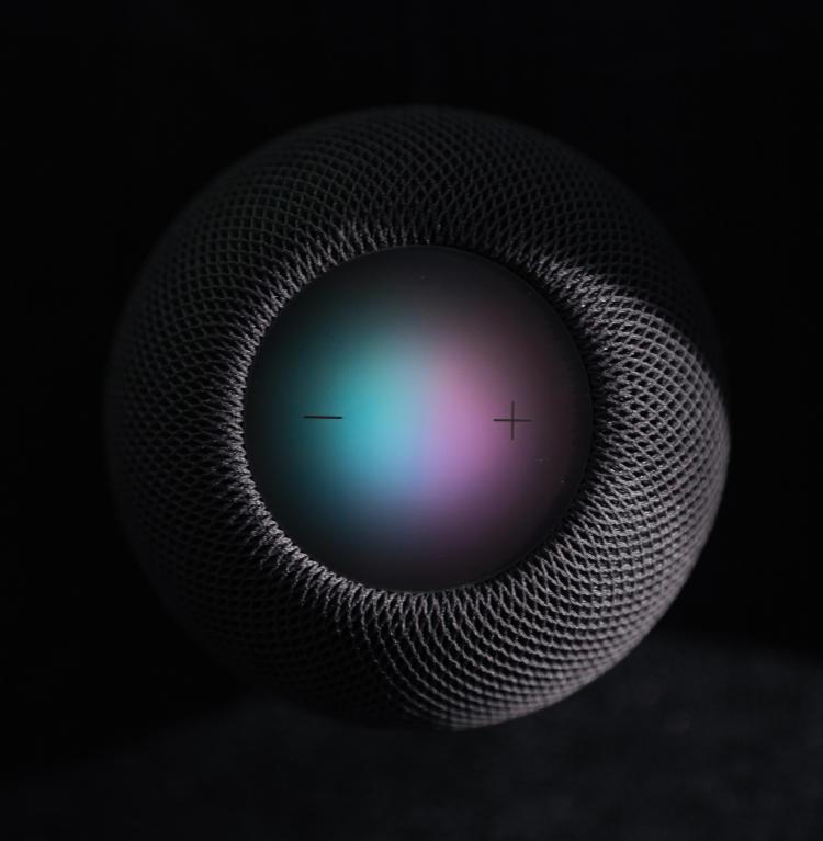 Siri activo en un Homepod.