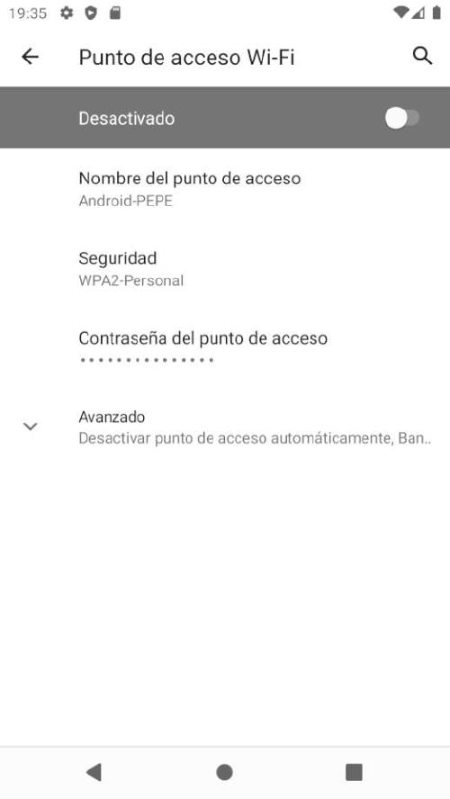 Compartir Internet movil Android - Configurar AP