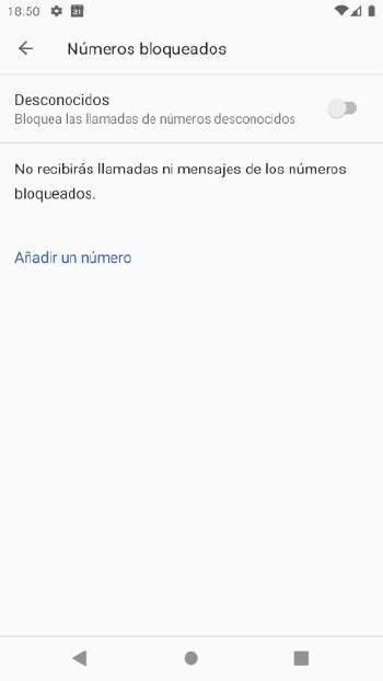 Bloquear números en Android - 2
