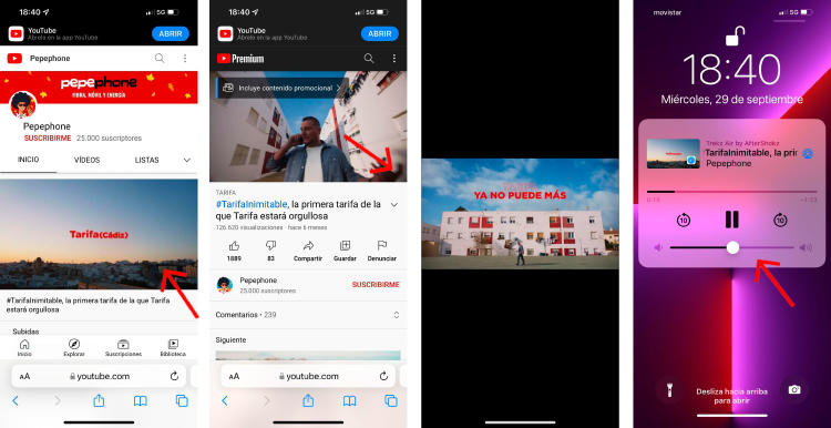 Reproduce YouTube en 2º plano en tu iPhone.