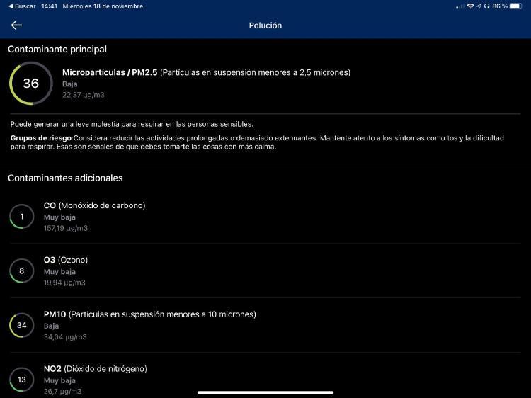 Aplicación The Weather Channel para iOS y Android.