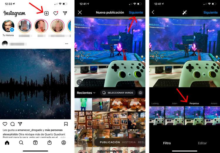 Cómo aplicar un filtro a una publicación de Instagram.