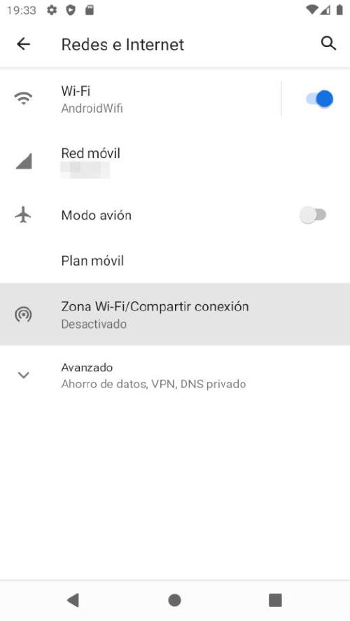 Compartir Internet movil Android