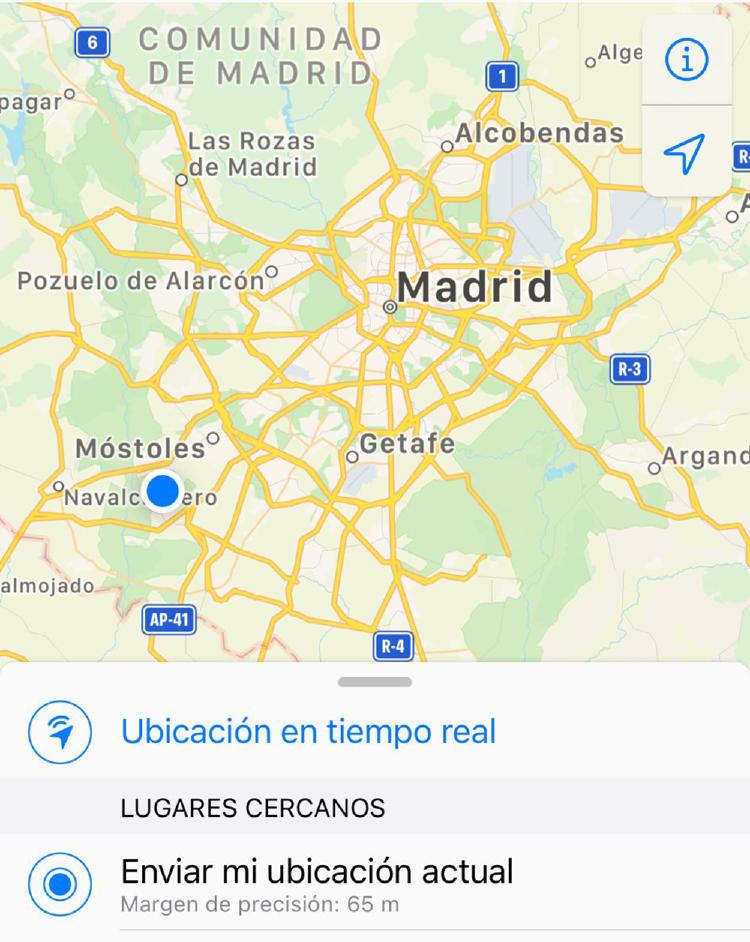 Comparte tu ubicación GPS.
