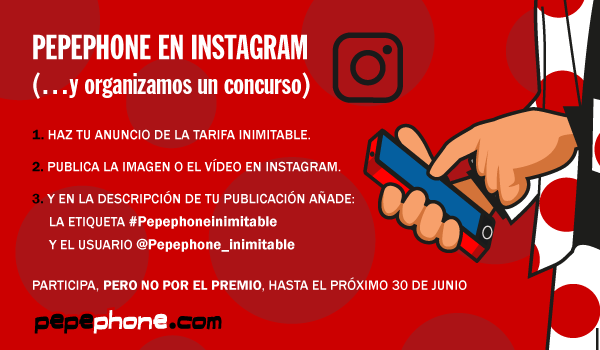 pepephone inimitable instagram concurso iPhone